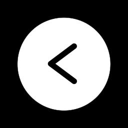 arrow, arrows, circle, direction, left, prev, previous icon