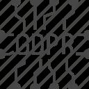 data, gdpr, protection icon