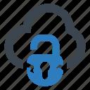 breach, broken, cloud, data icon