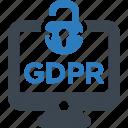 breach, breaches, data, gdpr icon