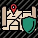 address, address protection, gdpr, general data protection regulation, map, protection icon