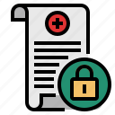 data, gdpr, general data protection regulation, medical data secure icon
