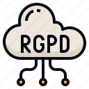 cloud, data, rgpd, transfer icon