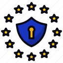 data, eu, protection, rules icon