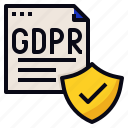 data, document, gdpr, policy, protection icon