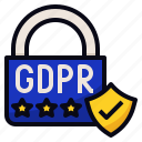 data, eu, gdpr, protection icon