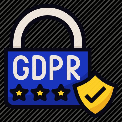 data, eu, gdpr, protection icon