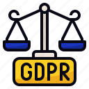 eu, gdpr, internet, justice icon