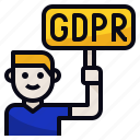 employee, gdpr, impact, right icon