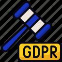 gdpr, justice, law, rgpd icon