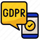 app, gdpr, mobile, regulation icon