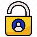 data, lock, personal, security icon