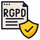 data, protection, rgpd, security icon