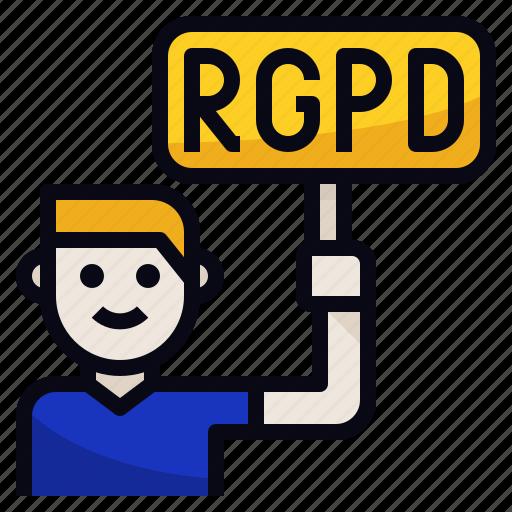 employee, impact, rgpd, right icon
