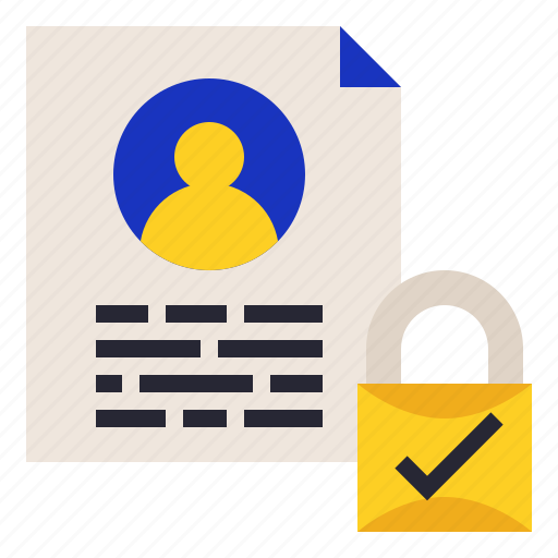 data, personal, protection, regulation icon