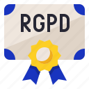 certification, compliance, protection, rgpd icon