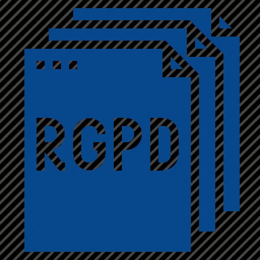 data, document, rgpd, rules icon