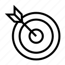 archer, arrow, goal, office, point, target icon