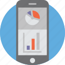 analysis, analytics, diagram, graph, information, mobile, smartphone icon