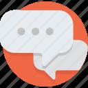 bubble, chat, communicate, communication, message, speech, talk icon