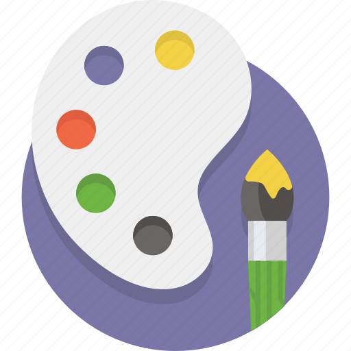 Artist, artistic, brush, color, drawing, paint, paintbrush icon - Download on Iconfinder