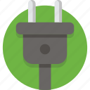 cable, electric, electrical, electricity, energy, plug, power icon
