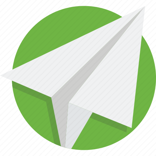 airplane, fly, message, paper, plane, send, sky icon