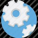 engine, gear, illustration, progress, setting, settings icon