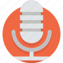 media, microphone, mobile, recorder, tape, voice icon