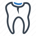 decay, dental sealant, teeth icon