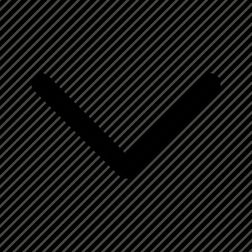 Afbeeldingsresultaat voor symbool dakje naar beneden