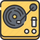 boomers, generations, music, play, records icon