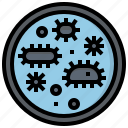 biology, dish, education, equipment, experimentation, laboratory, petri icon