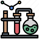 chemical, education, flask, flasks, laboratory, testing, tube icon