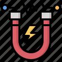 edit, magnet, magnetic, nano, tools, utensils icon