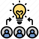 brainstorm, concert, creative, design, grid, idea, teamwork icon