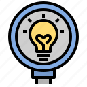 bulb, creative, design, discovery, idea, knowledge, study icon