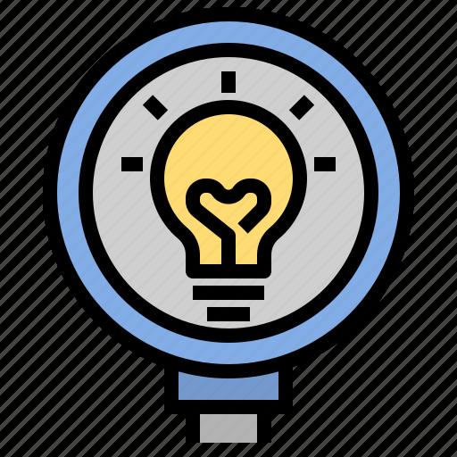 bulb, creative, design, discovery, idea, knowledge, study icon