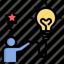 creative, design, genius, idea, innovation, inspiration, light icon