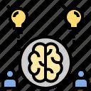 brain, brainstorm, creative, idea, innovation, intellectual, teamwork icon
