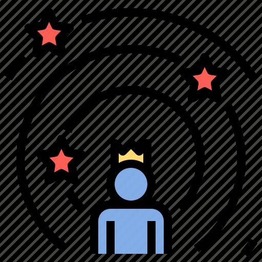 achievement, award, genius, king, prodigy, talent, winner icon