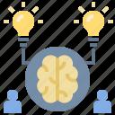 brain, brainstorm, idea, intellectual, teamwork icon