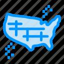 america, map, states, united, usa icon