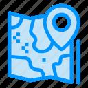 destination, google, location, map, pin icon