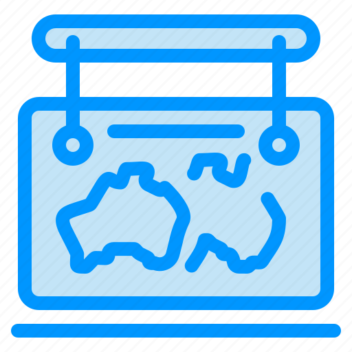 frame, guide, location, map, travel icon