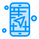 app, direction, map, mobile, travel icon
