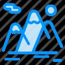 hiking, landscape, mountain, mountains, travel icon