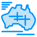australia, country, map, travel, vacation icon