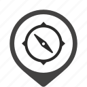 compass, navigator, salor icon