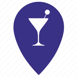 bocal, coctail, location, martini, party, place, point icon